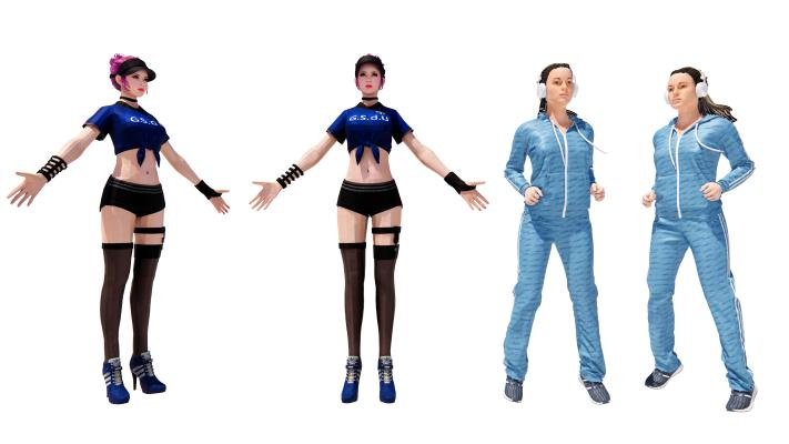 现代运动装女孩