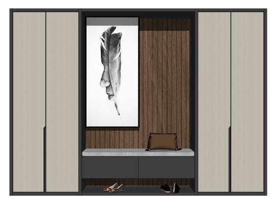 现代鞋柜玄关柜衣柜