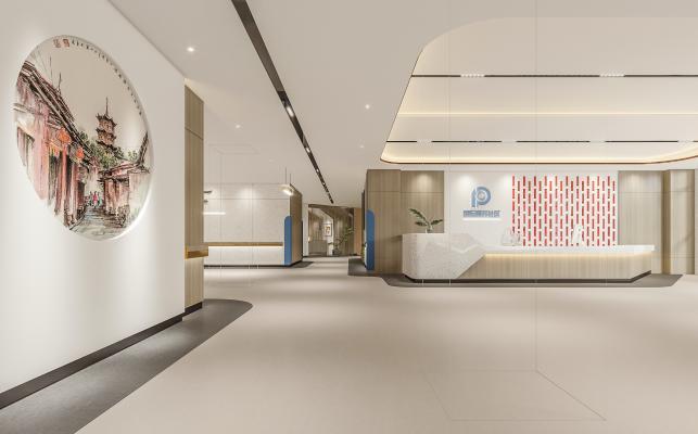 新中式医院大厅