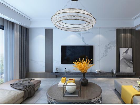 現代大平層客廳