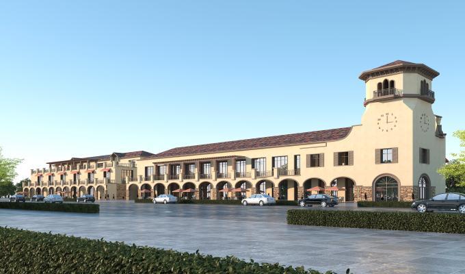 地中海风格商业街 两层商铺 商业街