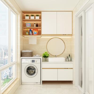 现代洗衣机柜 收纳筐