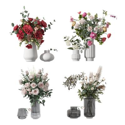 现代花 花瓶 花艺