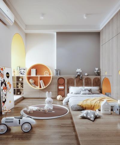 现代风格卧室 儿童房 装饰柜 衣柜