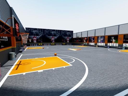 工业风篮球场