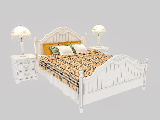 欧式双人床 床具组合