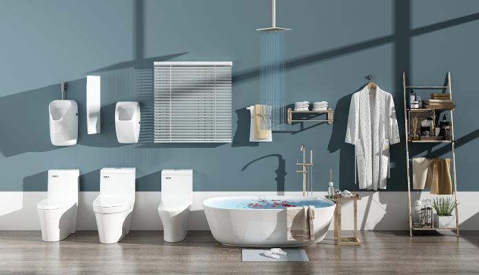 现代洁具卫浴组合