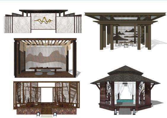 新中式景观亭