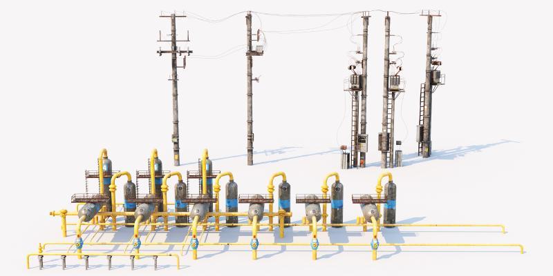 现代工业设备 电线杆