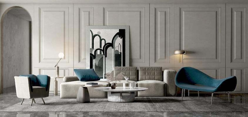 现代沙发茶几 组合沙发