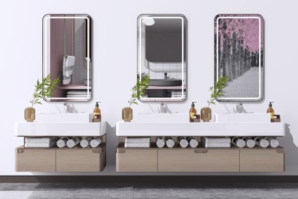 现代卫浴柜组合 洗手台 洗面盆