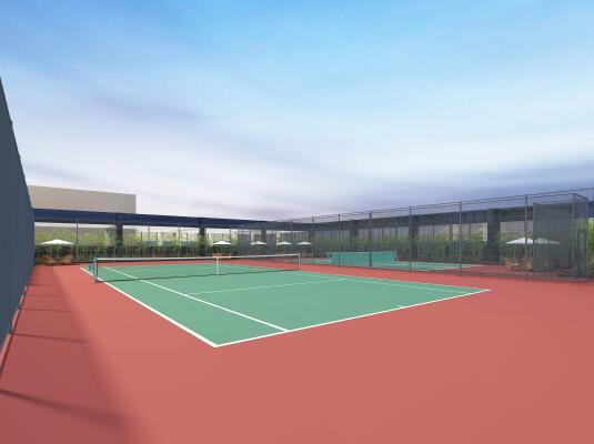 现代网球场