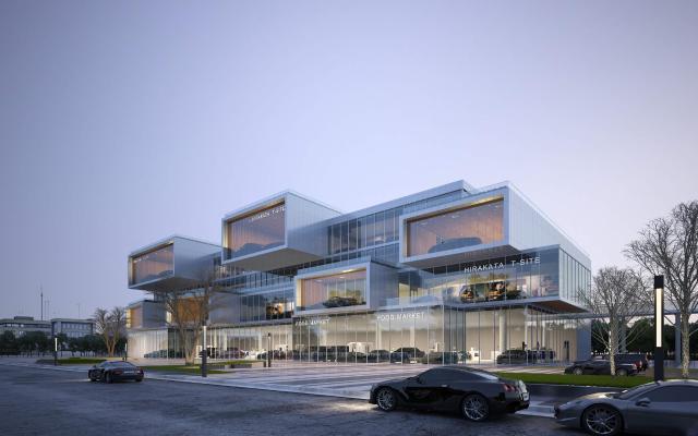 现代汽车4S店展厅 建筑外观