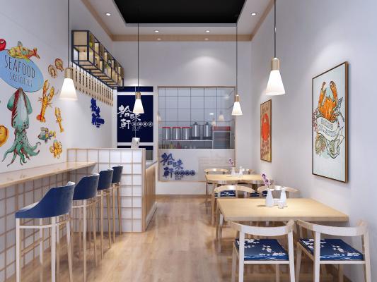 现代海鲜饭店 辣卤店 餐饮寿司店