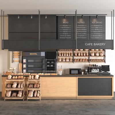 现代咖啡吧 面包 糕点