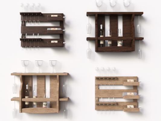 现代风格装饰柜架 酒架