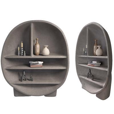 现代侘寂装饰柜摆件组合