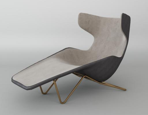 現代簡約休閑躺椅