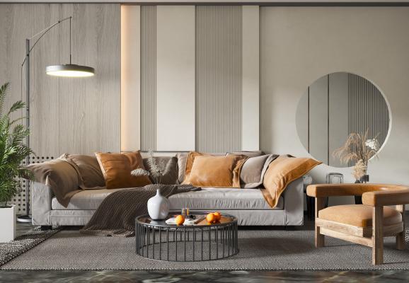 现代轻奢沙发