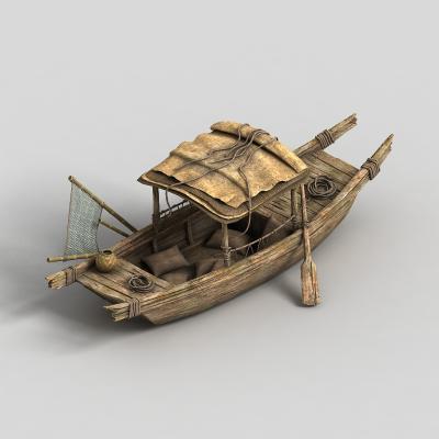 中式仿古渔船 木船