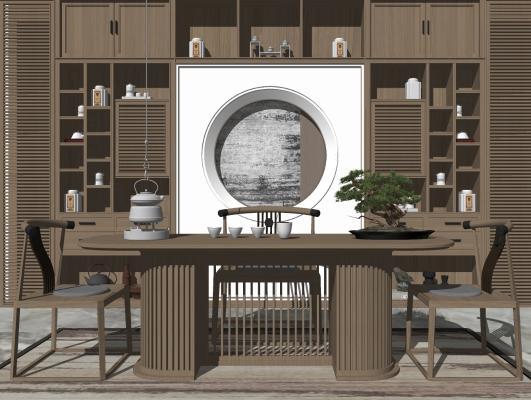中式风格休闲桌椅组合 茶室