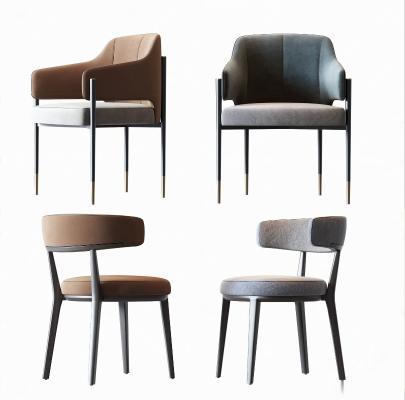现代椅子组合