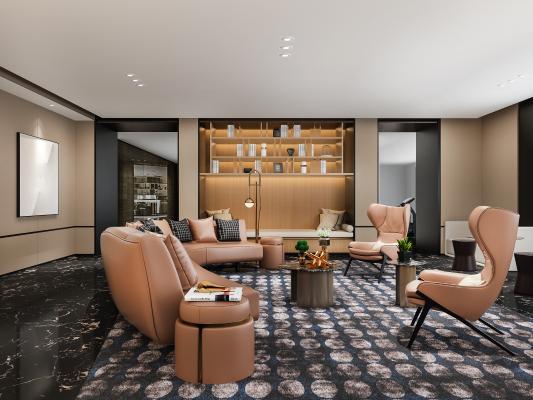 现代轻奢会客厅 休息室