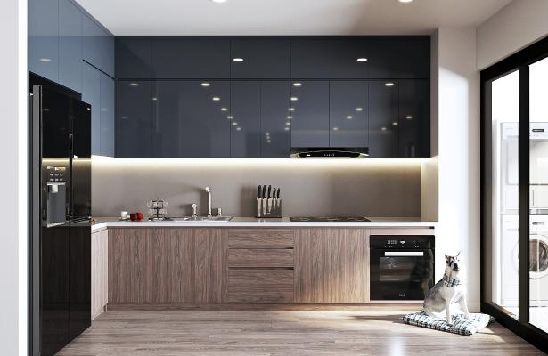 现代厨房 橱柜 吊柜