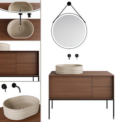 现代浴室洗手柜,洗手池,镜柜,洗手台,浴室洗手台