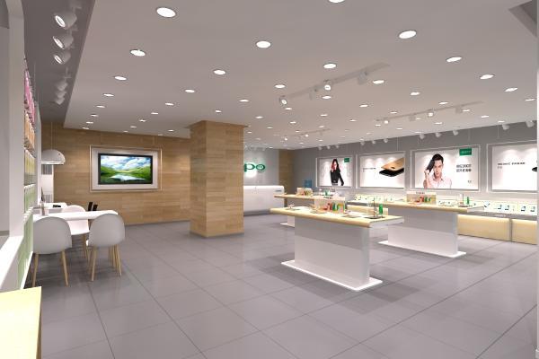 现代oppo手机专卖店 展厅