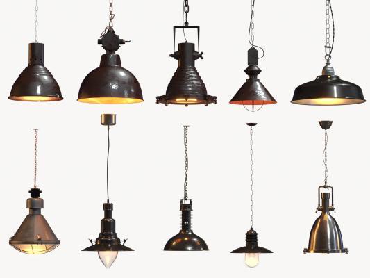 工业风吊灯 复古灯具