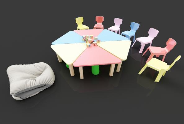 现代风格书桌椅