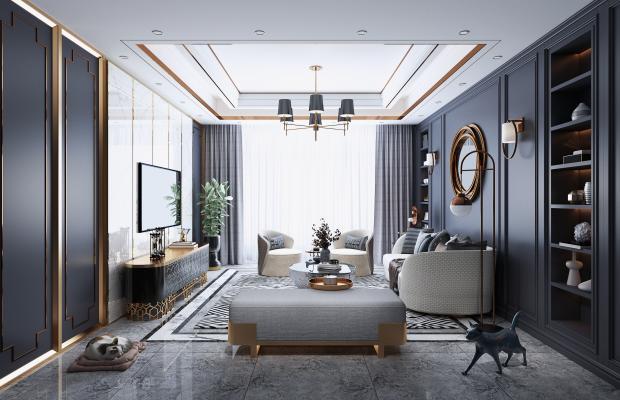 现代客厅 电视柜 墙饰