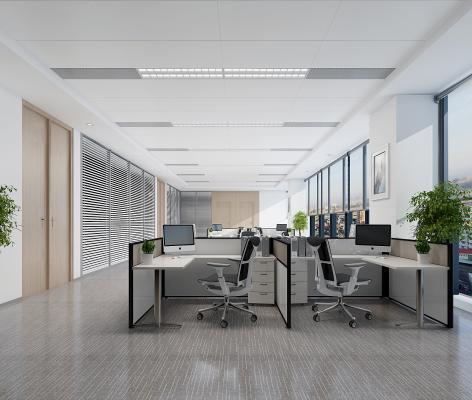 现代敞开办公区