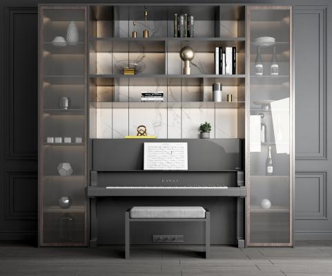 现代乐器钢琴 酒柜 装饰柜