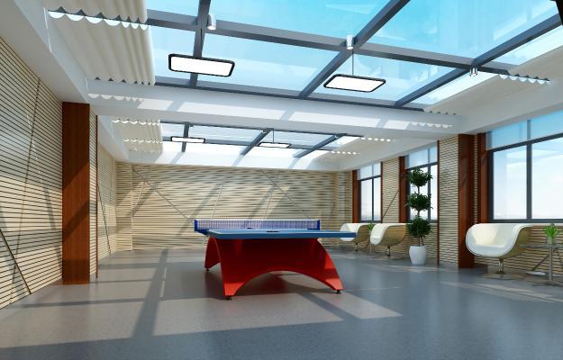 现代乒乓球室 健身房 活动室