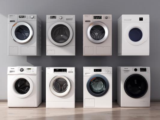 现代洗衣机 滚筒洗衣机 智能洗衣机