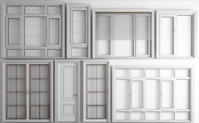 欧式铝合金断桥窗 房间门 卫生间门