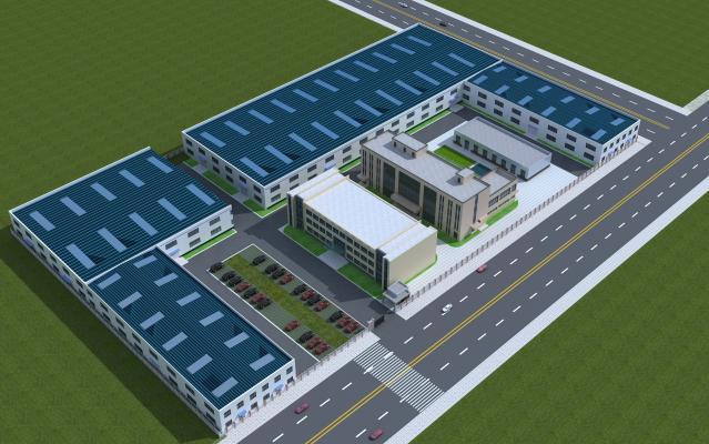 新中式厂房 厂子 产业园建筑 办公室