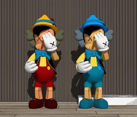 现代KAWS玩偶雕塑
