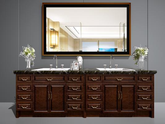 简欧洗手台 简欧卫浴柜 欧式洗手台 欧式面盆 美式洗手台 美式卫浴柜