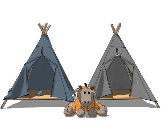 现代风格毛绒玩具 帐篷
