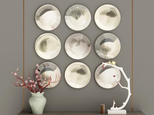 新中式挂饰 装饰品 盘子