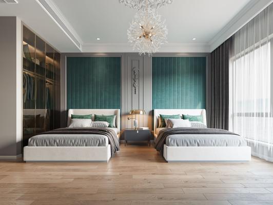 法式卧室 双床房