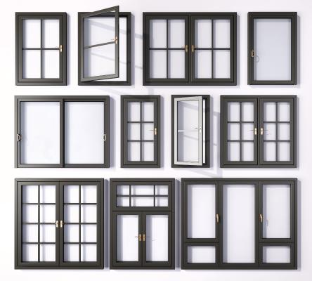 现代铝合金窗户 窗户 窗框