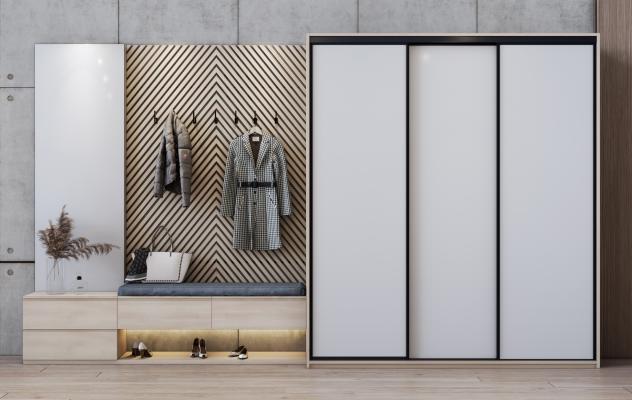 现代鞋柜 玄关柜