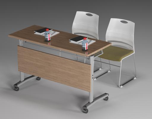 现代培训桌椅 条桌椅 会议桌椅