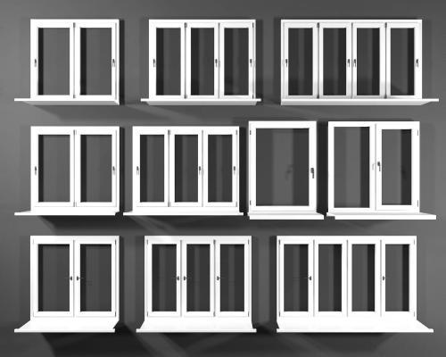 现代窗户组合