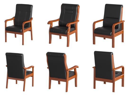 现代实木办公椅 扶手椅 会议椅