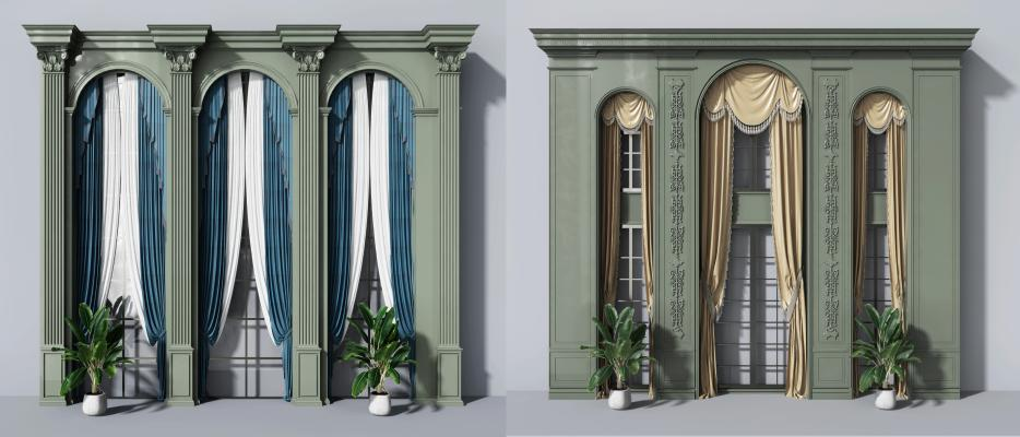 欧式窗户窗帘